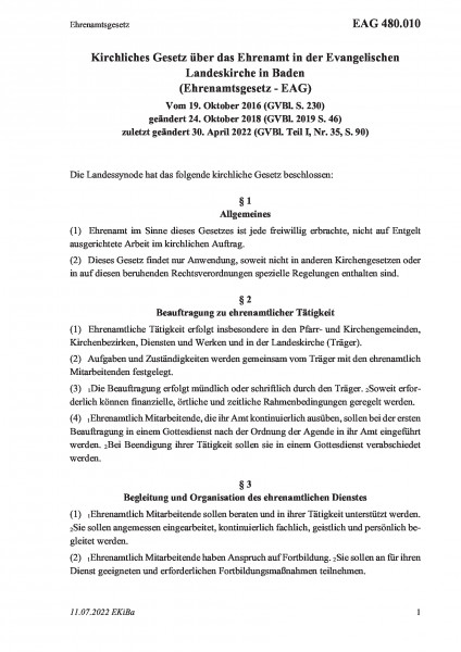 480.010 Ehrenamtsgesetz
