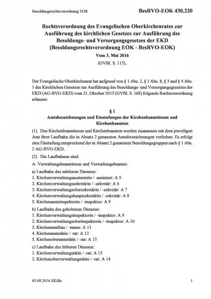 430.220 Besoldungsrechtsverordnung EOK