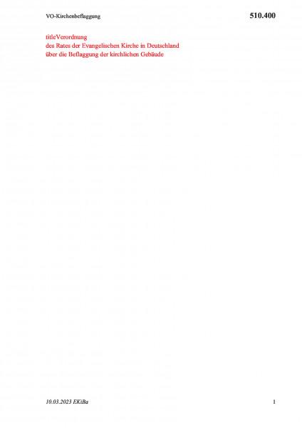 510.400 VO-Kirchenbeflaggung