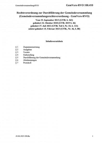 100.410 GemeindeversammlungsRVO
