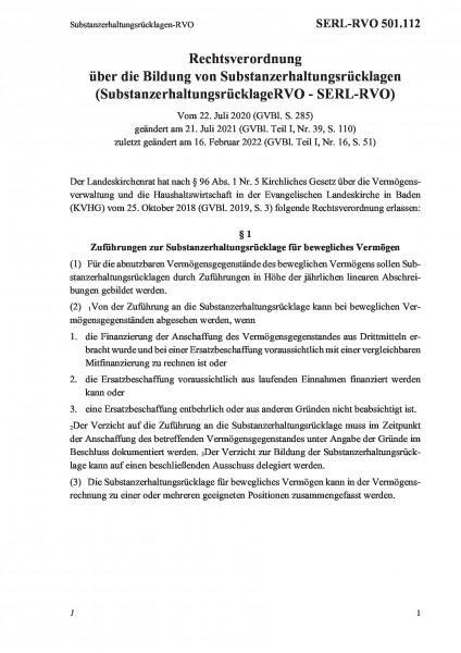 501.112 Substanzerhaltungsrücklagen-RVO