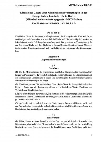 490.200 Mitarbeitendenvertretungsgesetz