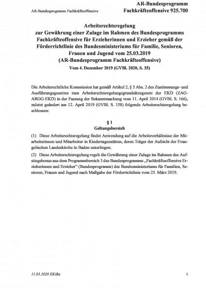 925.700 AR-Bundesprogramm Fachkräfteoffensive