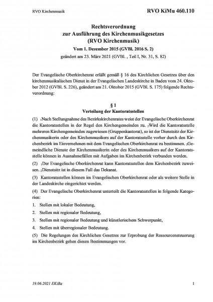 460.110 RVO Kirchenmusik