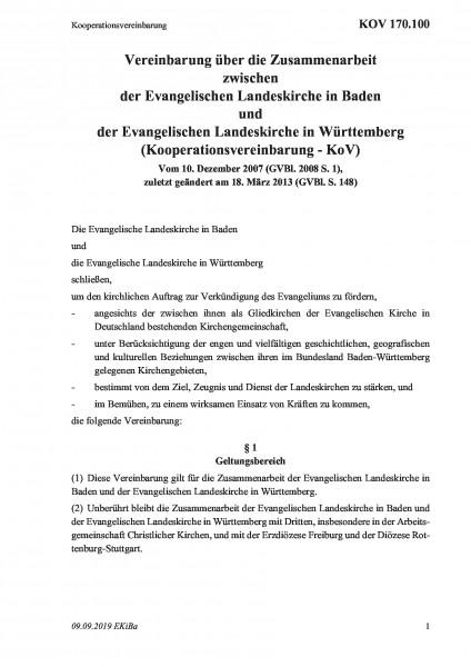 170.100 Kooperationsvereinbarung