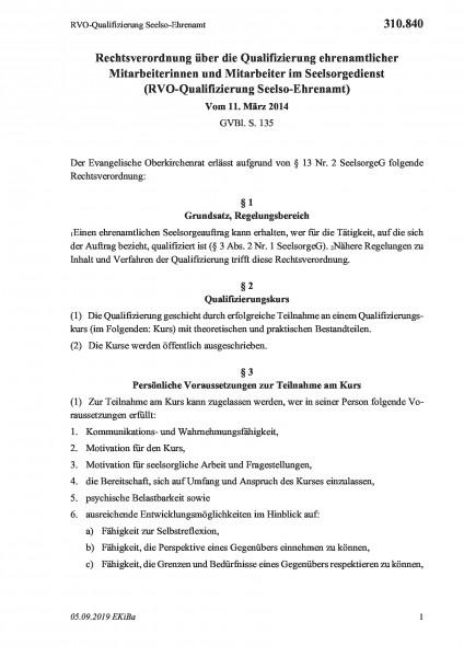 310.840 RVO-Qualifizierung Seelso-Ehrenamt