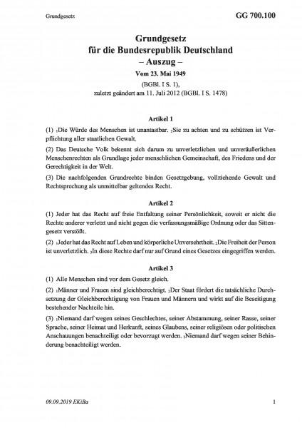 700.100 Grundgesetz