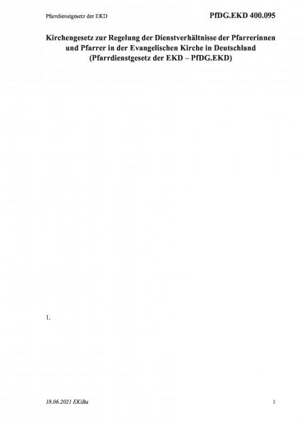 400.095 Pfarrdienstgesetz der EKD