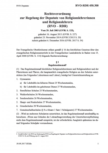 450.300 RVO-Deputate