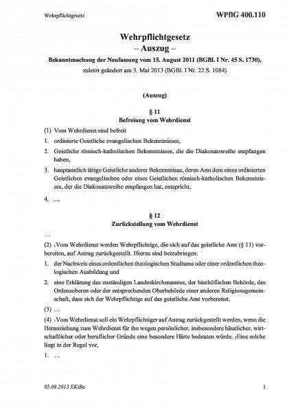 400.110 Wehrpflichtgesetz