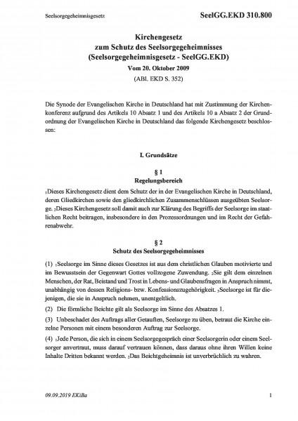 310.800 Seelsorgegeheimnisgesetz