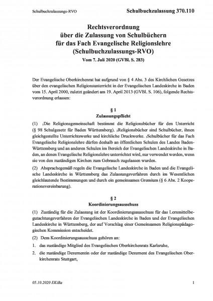 370.110 Schulbuchzulassungs-RVO