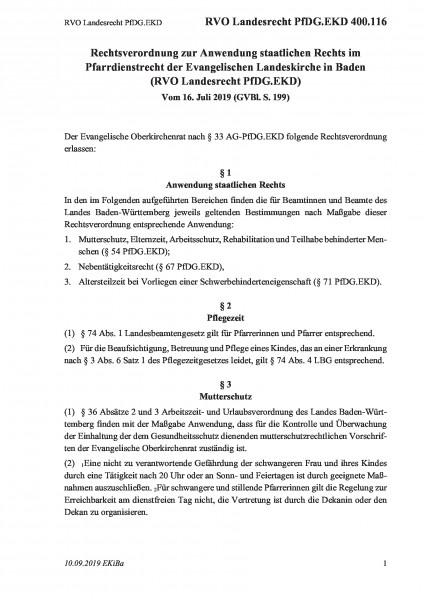 400.116 RVO Landesrecht PfDG.EKD