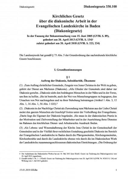330.100 Diakoniegesetz