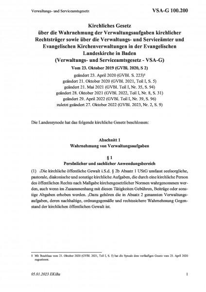 100.200 Verwaltungs- und Serviceamtsgesetz