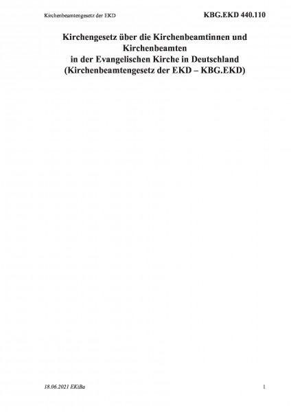440.110 Kirchenbeamtengesetz der EKD