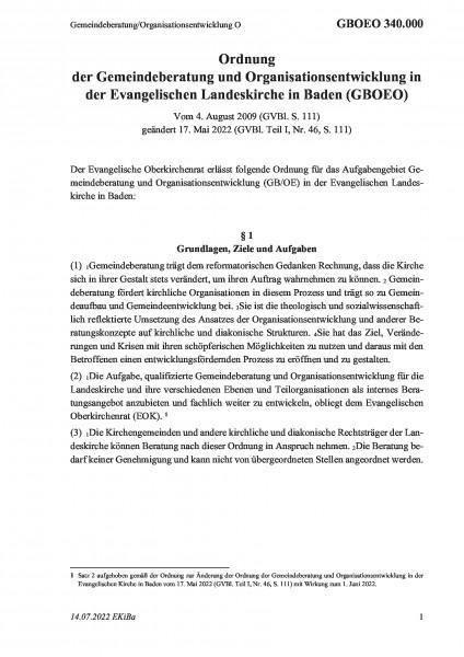 340.000 Gemeindeberatung/Organisationsentwicklung O