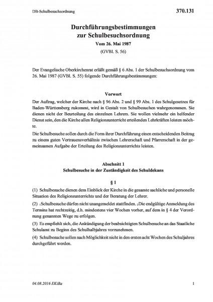 370.131 DB-Schulbesuchsordnung