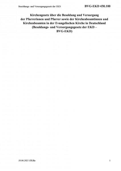430.100 Besoldungs- und Versorgungsgesetz der EKD