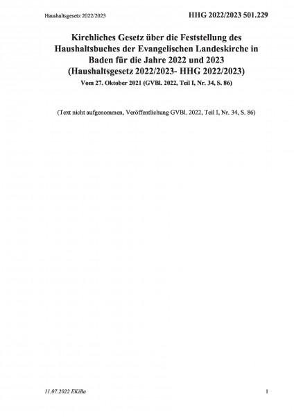 501.229 Haushaltsgesetz 2020/2021