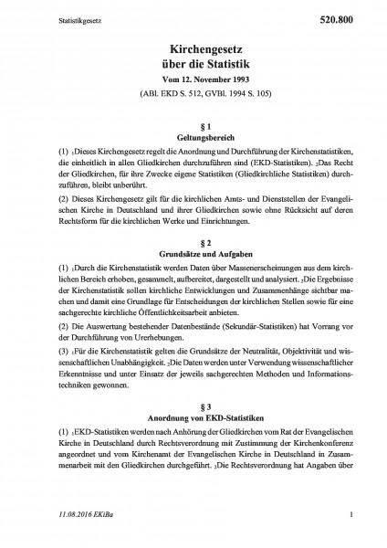 520.800 Statistikgesetz