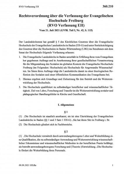 360.210 RVO Verfassung EH