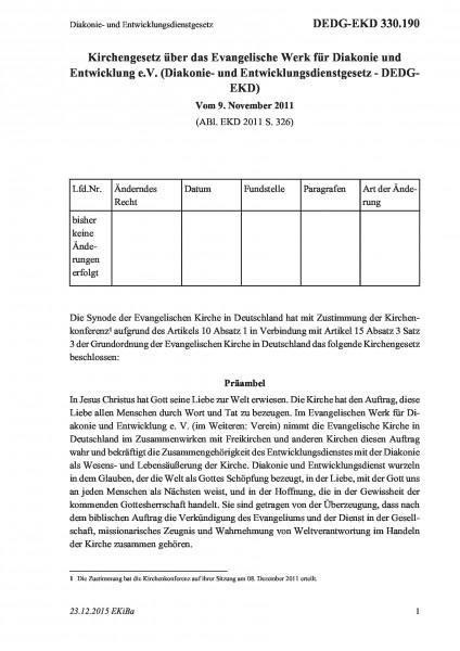 330.190 Diakonie- und Entwicklungsdienstgesetz