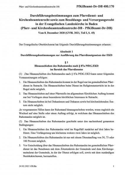 400.170 Pfarr- und Kirchenbeamtendienstrecht-DB