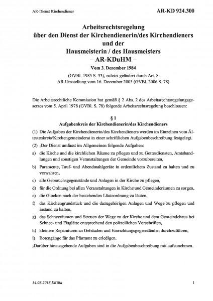 924.300 AR-Dienst Kirchendiener