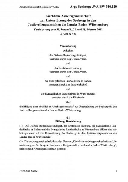 310.120 Arbeitsgemeinschaft Seelsorge JVA BW