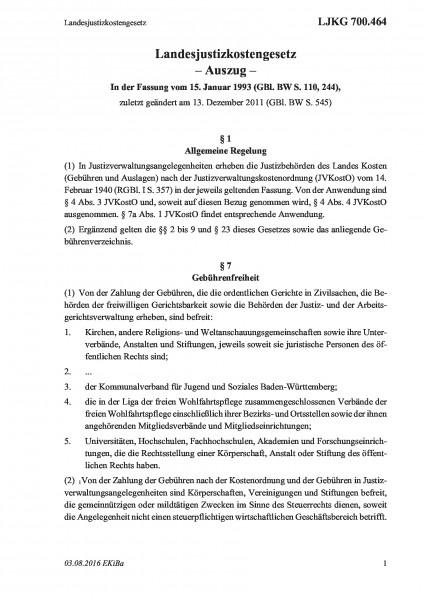 700.464 Landesjustizkostengesetz