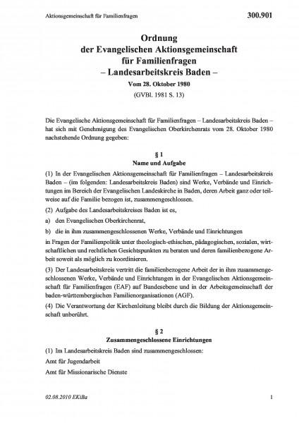 300.901 Aktionsgemeinschaft für Familienfragen