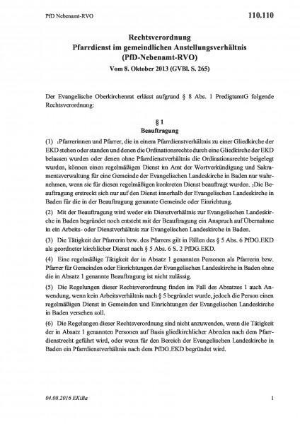 110.110 PfD Nebenamt-RVO