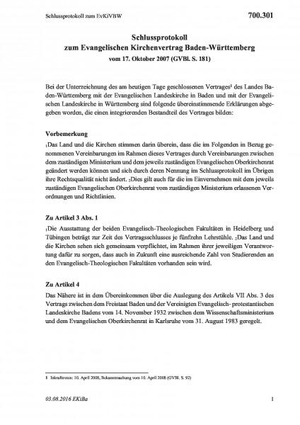 700.301 Schlussprotokoll zum EvKiVBW