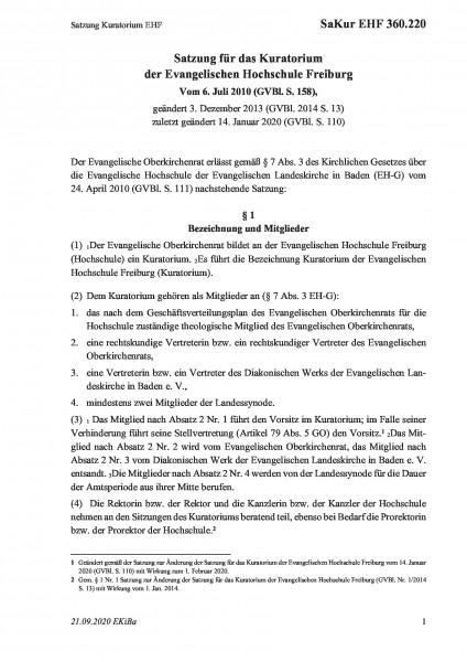 360.220 Satzung Kuratorium EHF