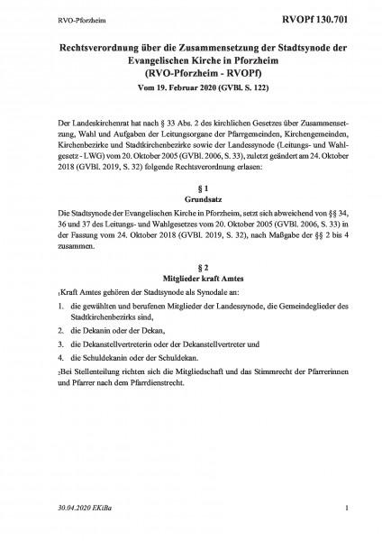 130.701 RVO-Pforzheim