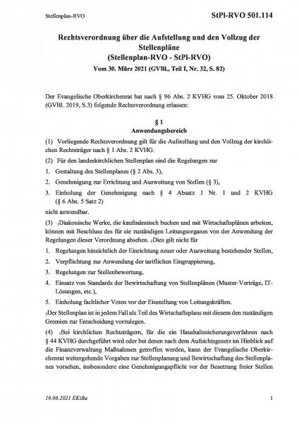 501.114 Stellenplan-RVO