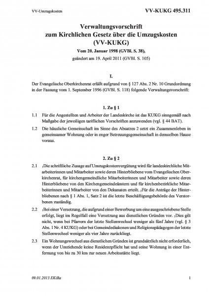 495.311 VV-Umzugskosten