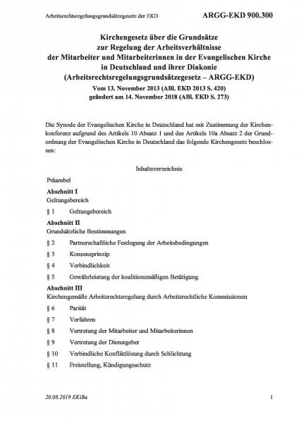 900.300 Arbeitsrechtsregelungsgrundsätzegesetz der EKD