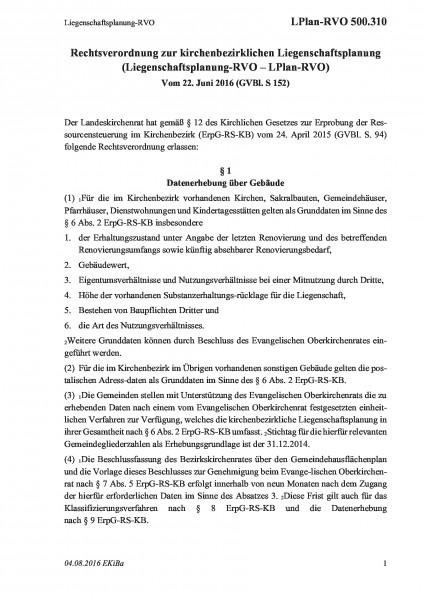 500.310 Liegenschaftsplanung-RVO