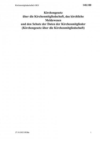 140.100 KirchenmitgliedschaftsG-EKD