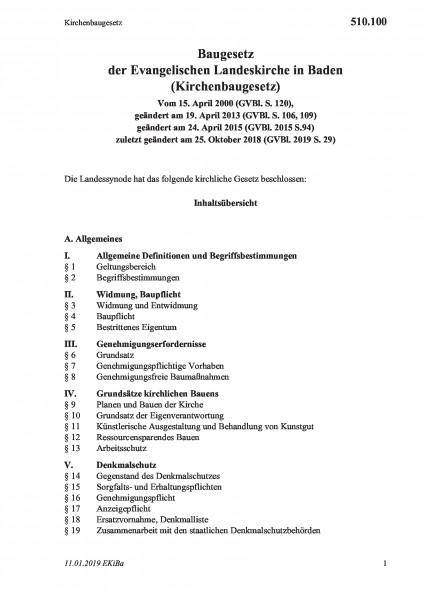 510.100 Kirchenbaugesetz