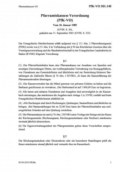 501.140 Pfarramtskassen-VO