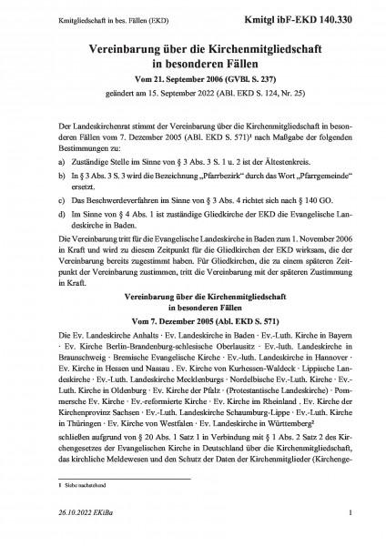 140.330 Kmitgliedschaft in bes. Fällen (EKD)