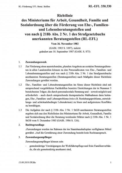 330.330 RL-Förderung EFL-Berat. Stellen