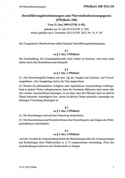 410.110 DB-PfarrstellenbesetzungsG