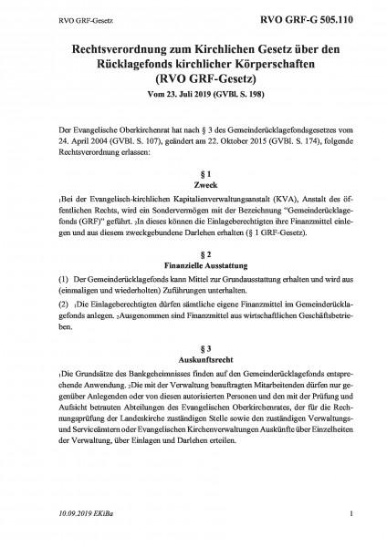 505.110 RVO GRF-Gesetz