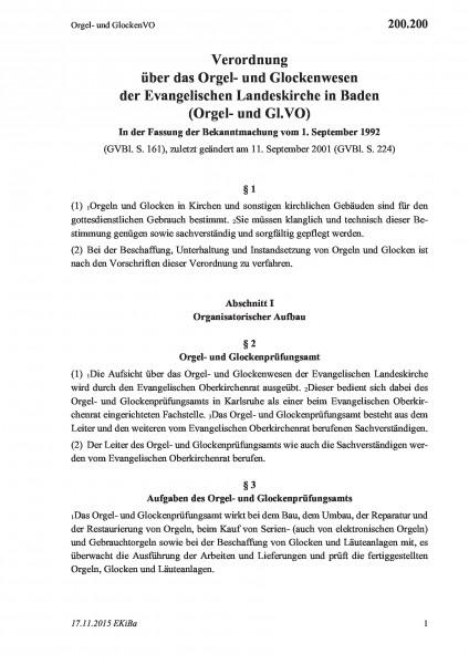 200.200 Orgel- und GlockenVO