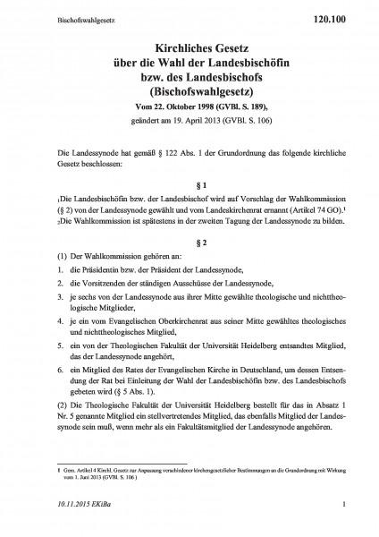 120.100 Bischofswahlgesetz