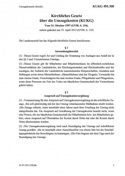 495.300 UmzugskostenG (kirchl.)